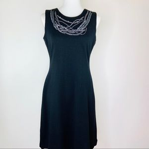 Calvin Klein Necklace Sheath Dress Size 10 Black